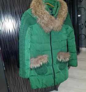 Пуховик теплый зимний 42р
