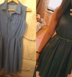 Платье тоненькое под джинсу