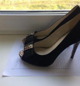 Туфли замшевые натуральные