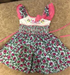 Платья , юбка б/у на девочку 2-3 года