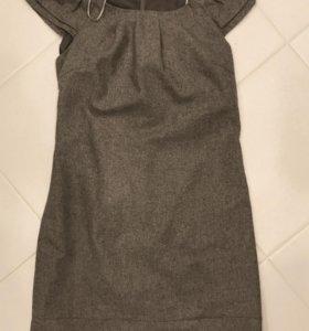 Платье шерстяное оджи