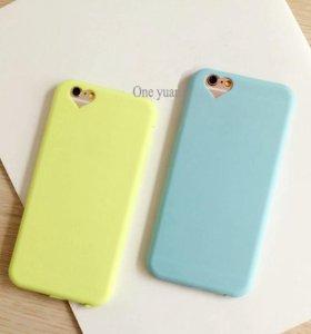 Чехол Iphone 5 (голубой) новый