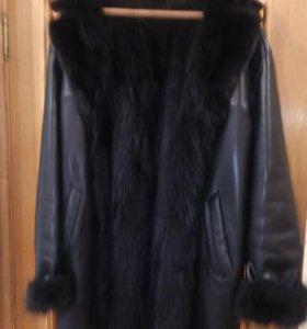 Мужская кож.куртка на натур.меху