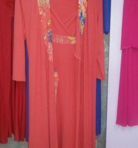 Комплект сорочка+халат
