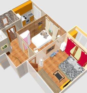 Онлайн перестановка мебели в вашей квартире