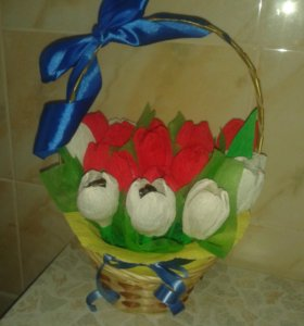 Корзинка с цветами )
