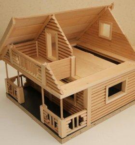 Кукольный домик, деревянный конструктор