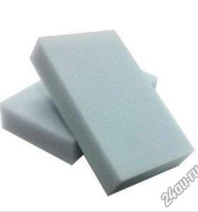Меламиновая губка серая 10х6х2