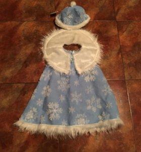 Костюм снежинка снегурочка напрокат  карнавальный