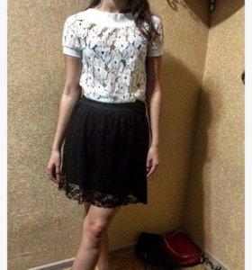 Кружевная юбка ,блузка