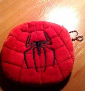 Кошелек плюшевый мягкий человек паук