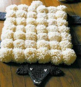 Помпонные коврики