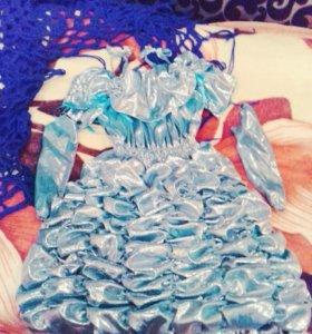 Новогоднее детское платье!
