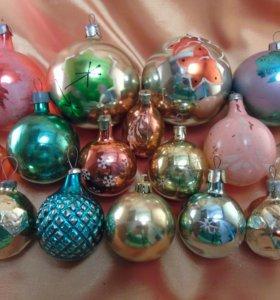 Ёлочные игрушки шарики СССР
