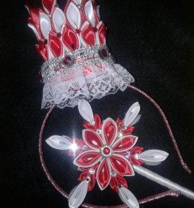 Корона и палочка