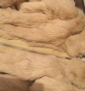 Куртка мех кролик