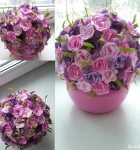 Горшки с цветами из фоамирана