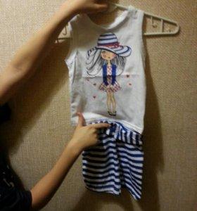 Летний костюмчик для девочки 1,5-2года