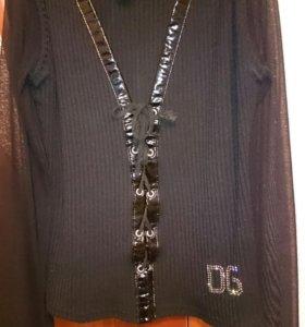 Красивая черная кофточка со шнуровкой, б/у
