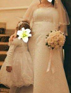 Платье свадебное с шубкой и фатой