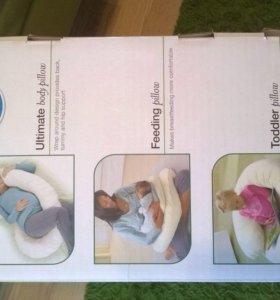 Подушка С до и после родовая с чехлом
