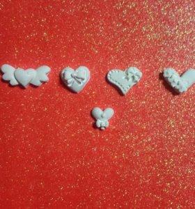 #19Г - Набор сердечек из полимерной глины.