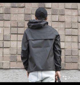 Куртка Анорак, кожзам, супер!