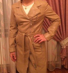 Кожаная куртка френч