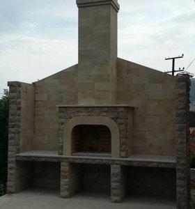 Облицовка фасадов из дагестанского камня