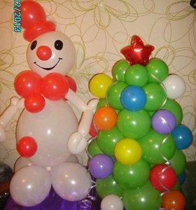 Новогодний наборчик из воздушных шаров!