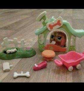 Лпс набор собачка и домик