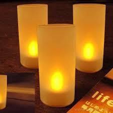 Свечи светодиодные 4 шт с аккумулятором