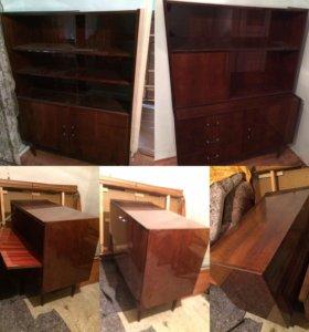 Комплект мебели из ореха