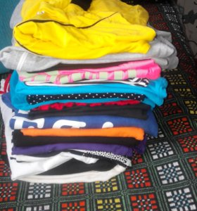 Пакетом,18 штук,футболки,майки