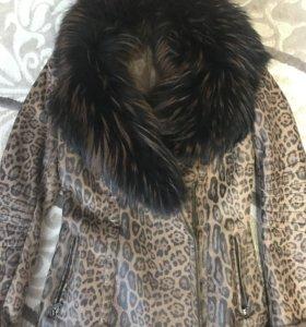 Куртка меховая кожаная