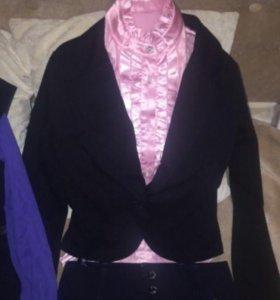 жакет блузка школьная форма