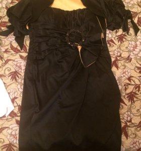 Вечернее  платье (чёрное) Размер XS
