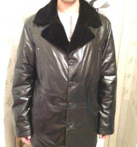 Куртка кожаная на мутоне