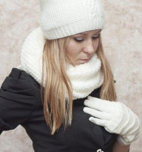 ШАПОЧКА и СНУД+ перчатки