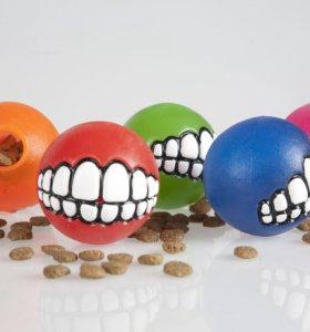 """Игрушки для собак. Мяч с принтом """"Зубы"""" Rogz"""