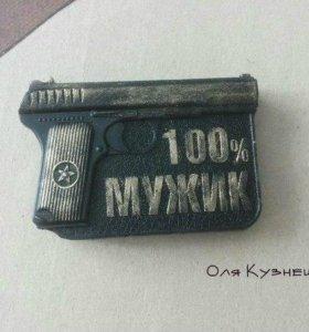 "Мыло ""100% МУЖИК"""