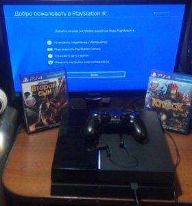 Продаётся PS4 (500 Гб) + 2 игры бесплатно.