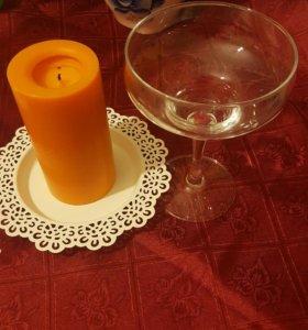 Фужер для мартини ,конфетница(стекло)