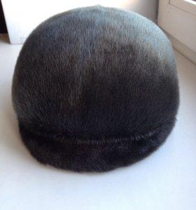 Мужская шапка-кепка из нерпы