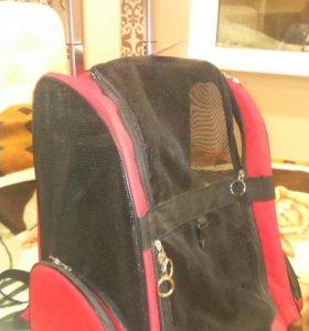 Рюкзак -переноска с выдвижной ручкой, на колесах