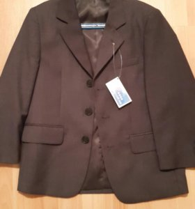 Пиджак новый т серый 122р