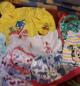 Одежда пакетом   для  девочки  от года