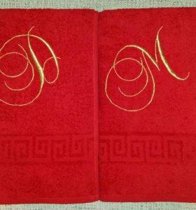 Полотенце с инициалами, цена за пару