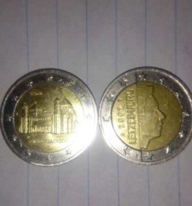 Юбилейные монеты по 2 евро