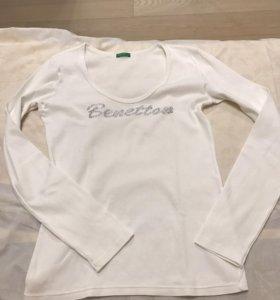 Белая кофта beneton